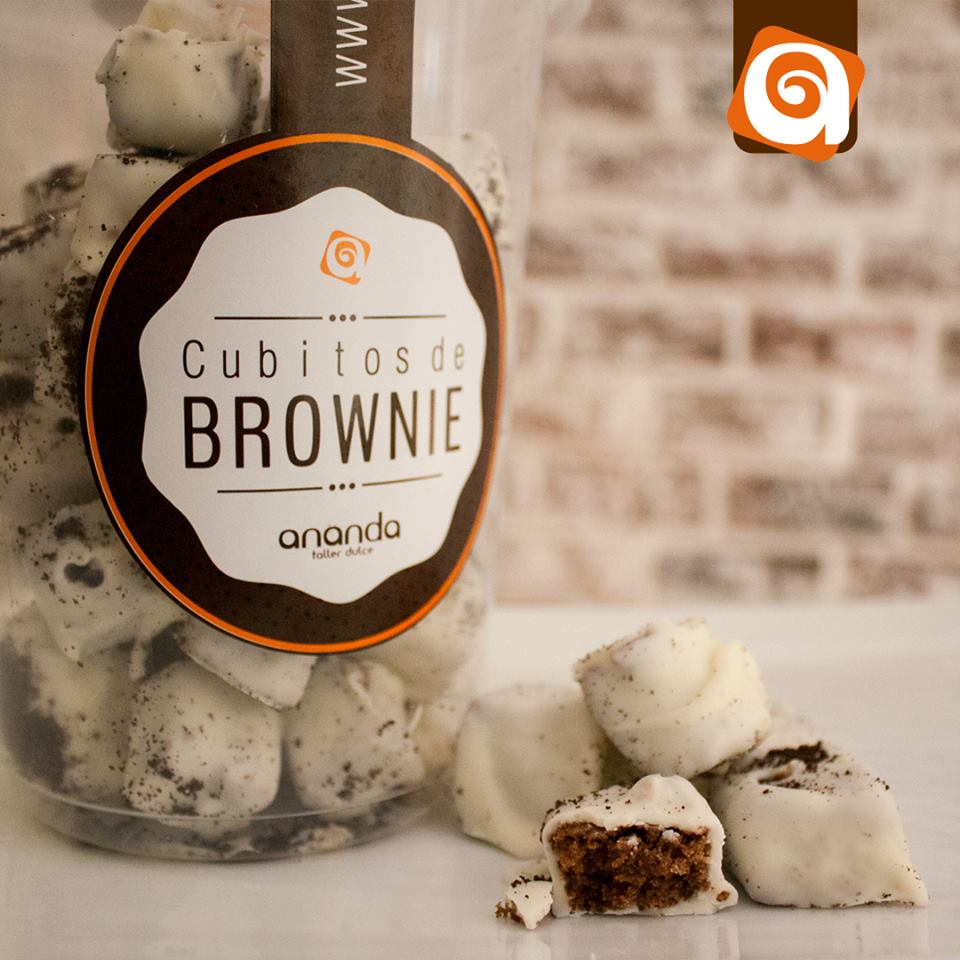 Brownie cubitos